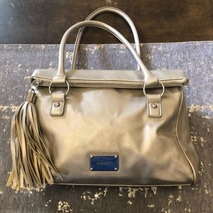 Nine West Metallic Gold Leather Shoulder Bag